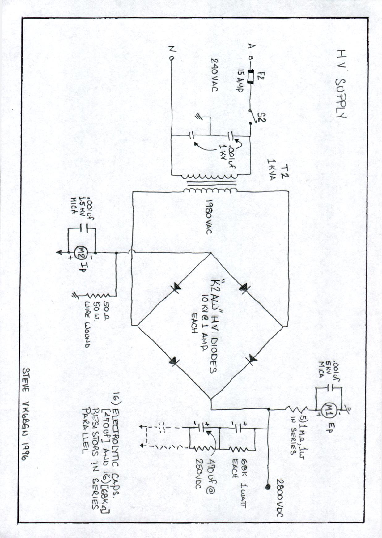 Four 813 G2daf Rf Amplifier 250vdc Wiring Diagram Schematic 1 2